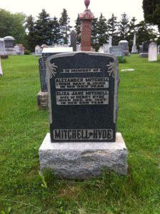 Kirkwall, Cemetery, Eliza Jane Hyde, Alexander Mitchell