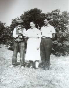 My great-grandparents Charles and Ada Hill with my great-uncle Ed