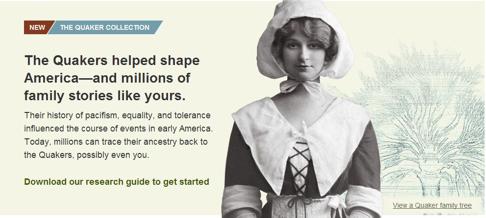 Ancestry.com has recently launched the Quaker Collection. As an ancestry.ca worldwide member I can use the records to research my family