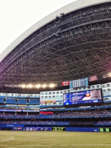 The Sky Dome was open for the 25 anniversary of the stadium