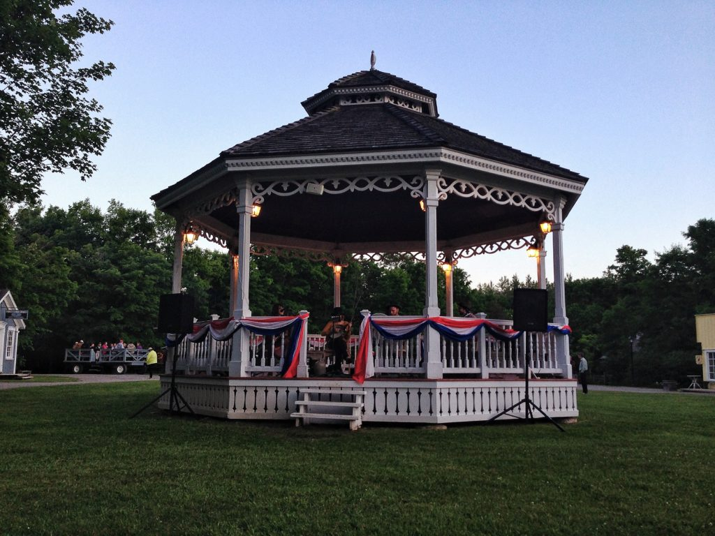 The Gazebo all decked out for the Anniversary Celebrations at Westfield Heritage Village
