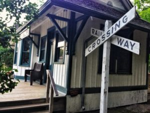 The Jerseyville Railway Station now located in the Westfield Heritage Village