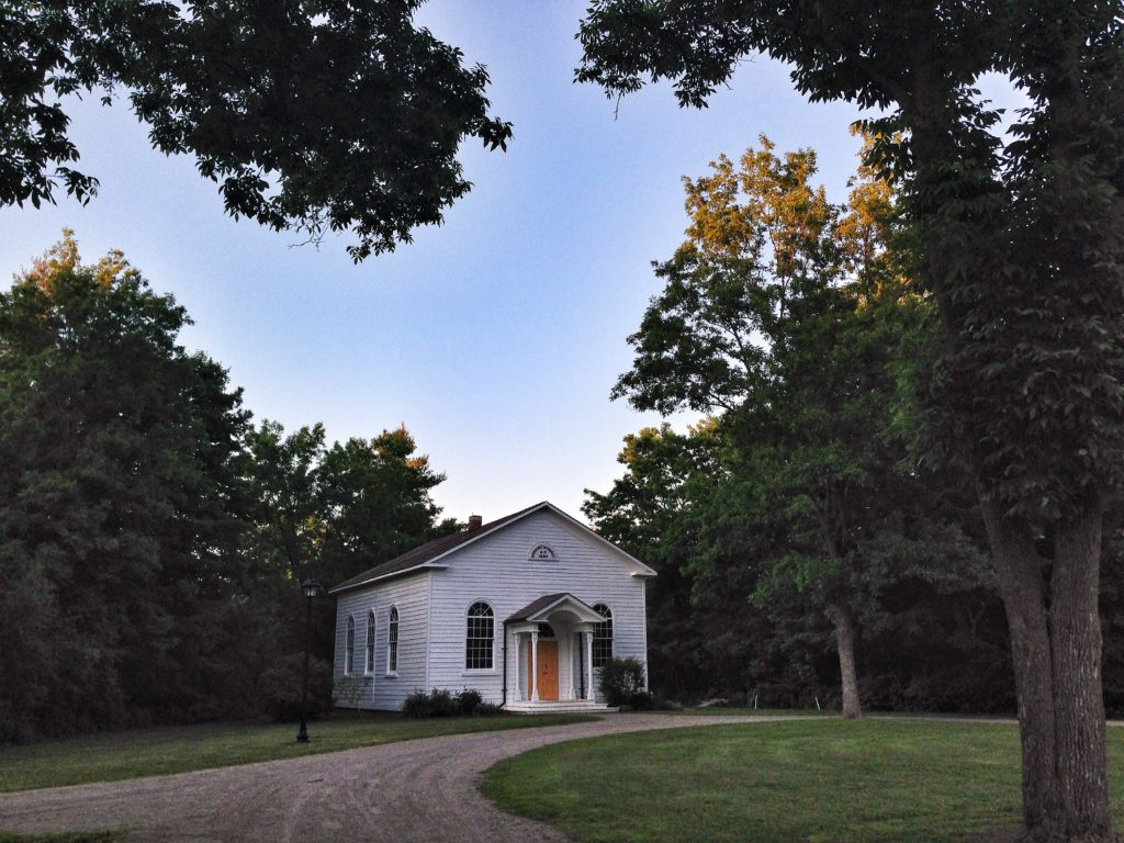 The church in Westfield Heritage Village is available for weddings as well as tours.