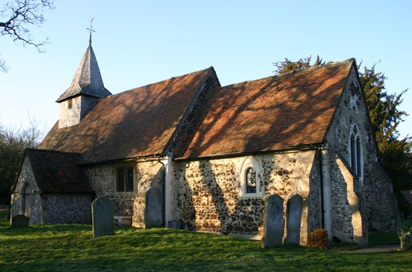 St Nicholas Church in Pyrford, Surrey, England