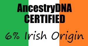 Corina Harris Ancestry DNA certified 6% Irish