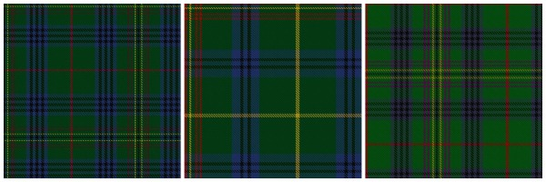 All three of these Kennedy tartans have slight variations in colour but are options for Adelaide.